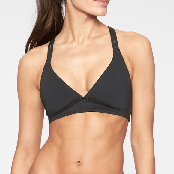 628fe0bb88ecd Athleta Swim | Cross Strap Bikini Top Black | Poshmark